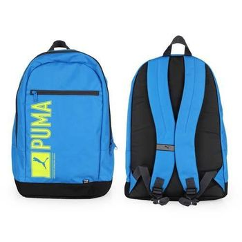 【PUMA】PIONEER後背包-雙肩包 肩背包 18吋筆電 寶藍綠