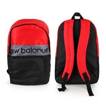 【NEWBALANCE】運動後背包-雙肩包 肩背包 18吋筆電 黑紅