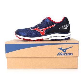 【MIZUNO】WAVE RIDER 19 男慢跑鞋- 路跑 美津濃 丈青紅白