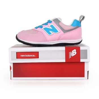 【NEWBALANCE】WIDE 574系列 男女兒童復古休閒鞋-寬楦 NB 粉紅水藍