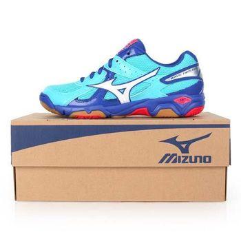 【MIZUNO】WAVE TWISTER 4女排球鞋- 美津濃 水藍桃紅