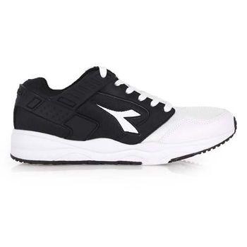 【DIADORA】男流行跑鞋-路跑 休閒鞋 寬楦 黑白
