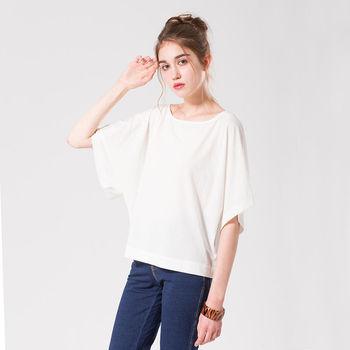 IFOREST 輕柔雪紡飛鼠袖上衣-白色16157