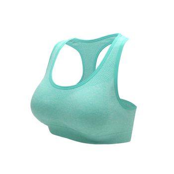 【INSTAR】寬肩帶女運動內衣-運動BAR 背心 韻律 有氧 瑜珈 湖水綠