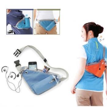 【旅遊首選、旅行用品】運動貼身腰包 騎車包 跑步包 休閒包 旅行斜背包-兩入組
