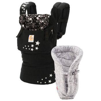 美國Ergobaby爾哥寶寶 原創款嬰童背帶+心貼心護墊套組(子夜星空)