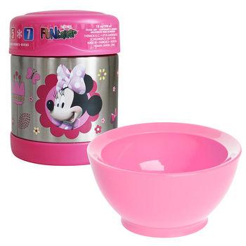 【Calibowl+Thermos】幼兒學習碗食物罐組合(米妮)