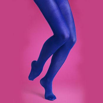【摩達客】瑞典進口【Happy Socks】藍色時尚彈性褲襪