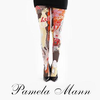 【摩達客】英國進口義大利製【Pamela Mann】活潑畫紋印花彈性褲襪