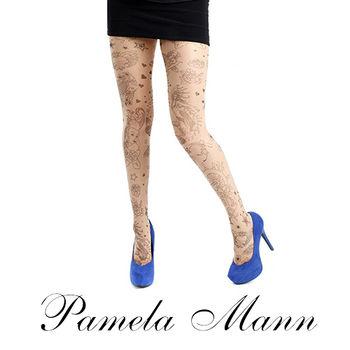 【摩達客】英國進口義大利製【Pamela Mann】刺青效果圖紋印花彈性褲襪