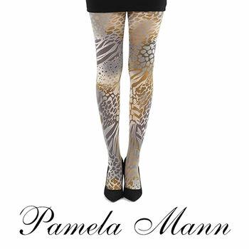 【摩達客】英國進口義大利製【Pamela Mann】漫遊時空藝術印花彈性褲襪