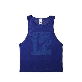 eXPONENT 吸濕排汗素面運動透氣背心 (紫藍) 125F0334