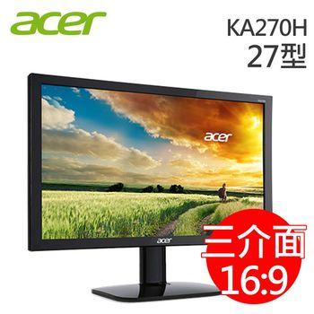 Acer 宏碁 KA270H 27型 VA不閃屏濾藍光液晶螢幕