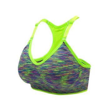 【INSTAR】細肩帶女運動內衣-運動BAR 背心 韻律 有氧 瑜珈 比基尼 螢光綠