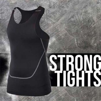 【INSTAR】PRO 男緊身背心 台灣製 慢跑 健身 重訓 無袖緊身衣 黑灰  瞬間吸濕排汗