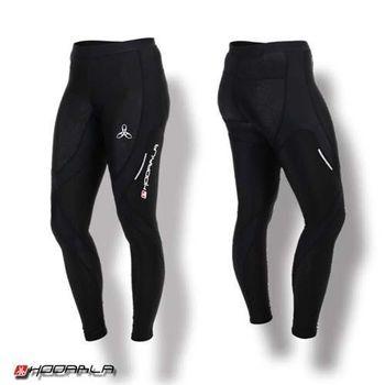 【HODARLA】蛹男女壓縮緊身長褲-慢跑 路跑 夜跑 內搭褲 緊身褲 束褲 黑  特殊壓花布料