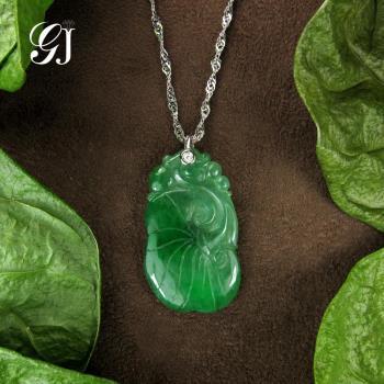 [晉佳珠寶] Gemdealler Jewellery 天然緬甸A貨 k金翡翠葫蘆墜飾
