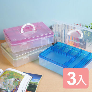 《真心良品×樹德》樹德貝兒組合式手提收納箱(3入)