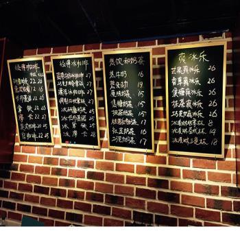 [協貿國際]實木框磁性掛式小黑板40*60 咖啡餐廳菜單板展示廣告板家用留言板