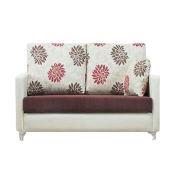 Bernice-羅莎琳珠光皮雙人座沙發(送抱枕)