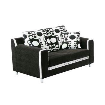 Bernice-薇拉雙人座布沙發(送抱枕)