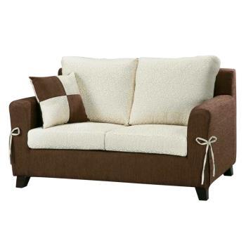 Bernice-伊萊雙人座布沙發(送抱枕)