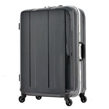 日本 LEGEND WALKER 6022-64-26吋 鋁框超輕量行李箱 靜謐黑