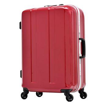 日本 LEGEND WALKER 6022-58-24吋 鋁框超輕量行李箱 水晶紅