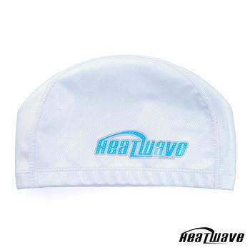 熱浪Heatwave 防水矽膠泳帽 彈性雙材質-銀色H35X