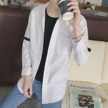 【協貿國際】長袖襯衫男士韓版修身白色襯衣男單件