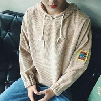 【協貿國際】連帽衛衣男士韓版寬鬆休閒長袖套頭外套男單件