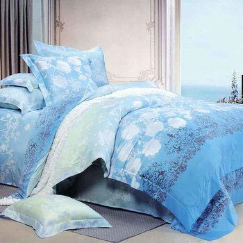 【幸運草】雅典宮廷 100%柔嫩天絲60支特大四件式床包被套組