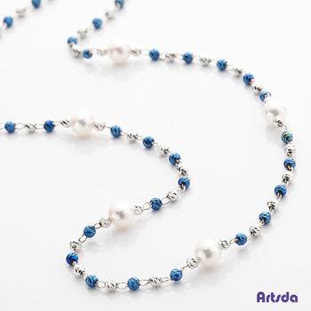 Artsda 獨家東京藍色鈦金珍珠項鍊 (18K金,藍色鍍鈦)