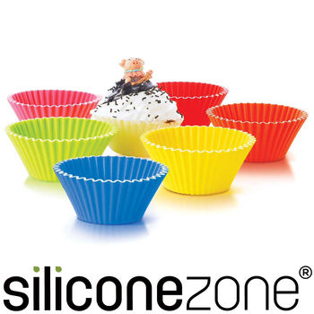 【Siliconezone】5.8cm施理康耐熱造型杯子蛋糕模(12入裝)