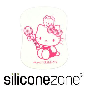 【Siliconezone】施理康Hello Kitty廚房料理耐熱軟式覘板墊-粉色