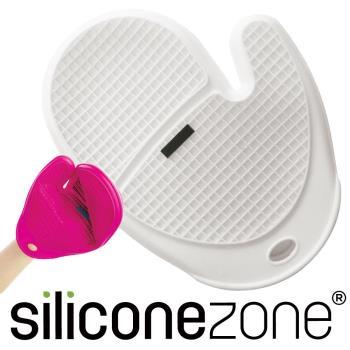 【Siliconezone】施理康方格防燙矽膠手套-白色