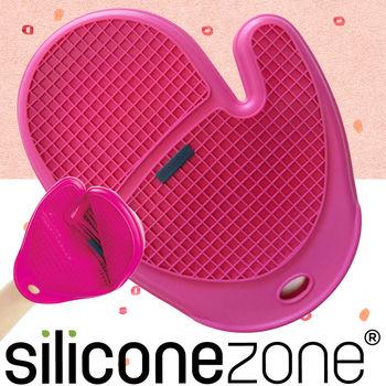【Siliconezone】施理康方格防燙矽膠手套-桃紅色