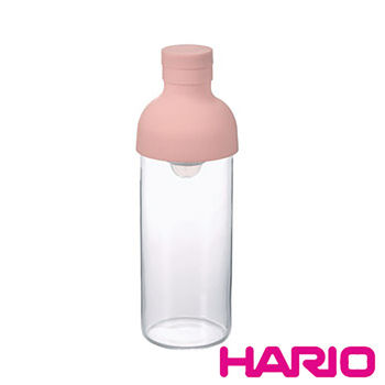 【HARIO】酒瓶粉紅色冷泡茶壺300ml FIB-30-PPR