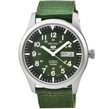 SEIKO日系精工三代野戰機械帆布錶-綠 / SNZG09K1