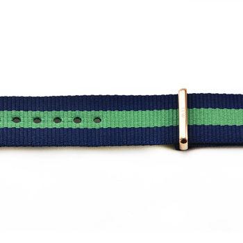 DW Daniel Wellington 瑞典原廠帆布錶帶-藍綠帆布帶 20mm / 0305DW