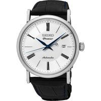 SEIKO 精工 Premier 系列超薄機械腕錶 ^#45 白 ^#47 40mm 4R