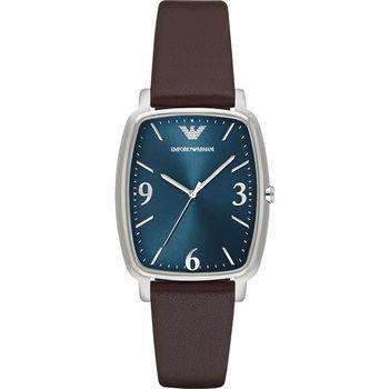 Emporio Armani Damenuhr 簡約石英錶-藍x咖啡/32mm AR2491