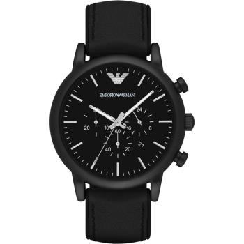 Emporio Armani Classic 都會計時石英腕錶-黑/46mm AR1970