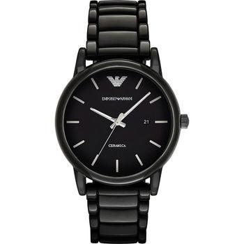 Emporio Armani Classic 陶瓷石英腕錶-黑x44mm AR1508