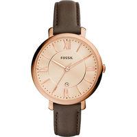 FOSSIL Jacqueline 羅馬風采 腕錶~玫瑰金x咖啡 36mm ES3707