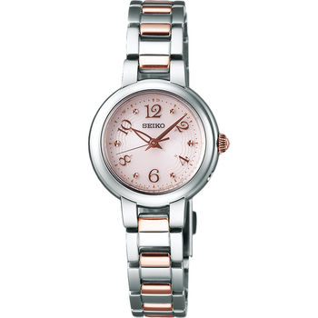 【SEIKO 精工】VIVACE 系列簡約時尚太陽能電波女用腕錶(1B21-0AM0-K/SWFH049J)
