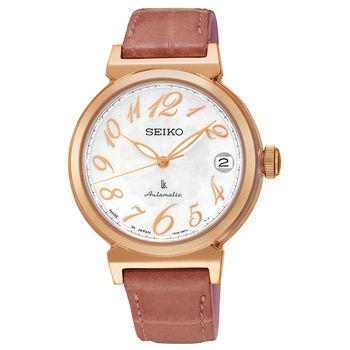 【SEIKO精工】LUKIA 時光的禮物 知性機械皮帶腕錶(4R35-00J0G/SRP868J1)