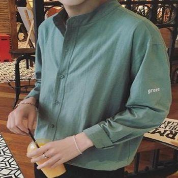 【協貿國際】純色襯衫韓版男士休閒長袖襯衣薄款單件