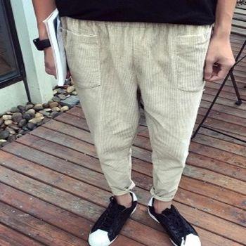 【協貿國際】燈芯絨休閒褲男士修身小腳褲單件