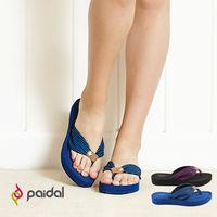 Paidal 蝴蝶節皮飾厚底鞋夾腳鞋 ^#45 紫 ^#47 藍 ^#45 2色